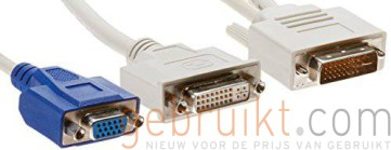 DVI-I Dual Link to DVI & VGA Video Adapter Splitter Cable VXOL/LE