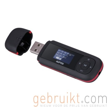 AGPTEK U3 8GB Portable USB MP3 Player with Recording and FM Radio, Blac