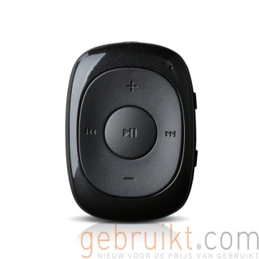 AGPTek G02S 16GB MP3 Player with Interchangeable Key Mini Clip MP3 Portable Music Player with FM Radio, Black