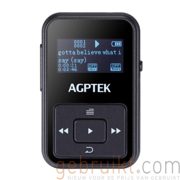 AGPTEK A12 8GB Portable Clip Mp3 Player black