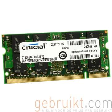 2GB DDR2 PC2-6400U CT25664AC800 (Laptop Geheugen)