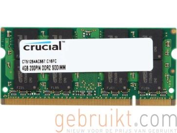 4GB DDR2 PC2-6400U CT51264AC667.C16FC (Laptop Geheugen)