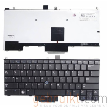 Dell Latitude E4310 toetsenbord met  Backlit Black Keyboard