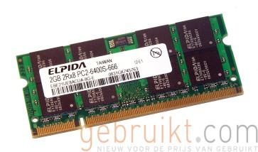 2GB SODIMM PC2-6400 DDR2-800MHz Elpida PN:EBE21UE8ACUA-8G-E