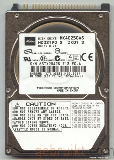 40GB IDE  2.5  inch mk4025gas toshiba