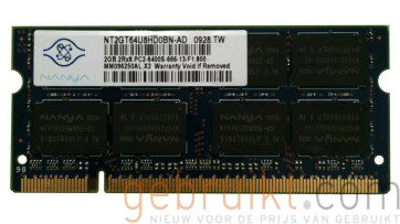 2gb 2RX8 PC2 6400S-666-13-F1-800  Nanya  PN:NT2GT64U8HD0BN-AD