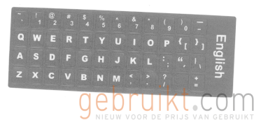 qwerty  toetsbord sticker zwart  voor laptops