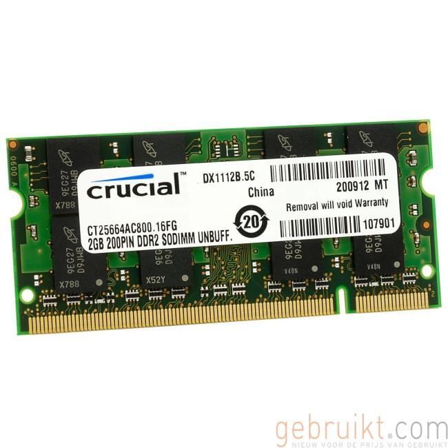 2GB DDR2 PC2 6400U CT25664AC800 Laptop Geheugen