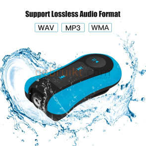 AGPTEK S12 8GB Portable waterproof Mp3 Player blue