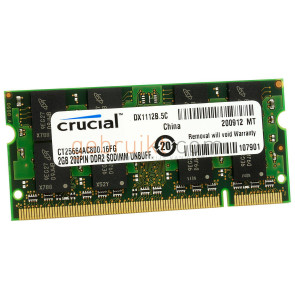 2GB DDR2 PC2-6400U CT25664AC800 (Laptop Geheugen)