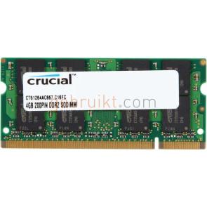 4GB DDR2 PC2-5300U CT51264AC667.C16FC (Laptop Geheugen)