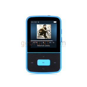 AGPtek G05 Mini Clip 8GB MP3 Player with Silicone Sleeve, Black