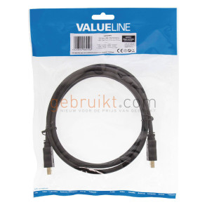Valueline HighSpeed HDMI kabel met ethernet 1.5m