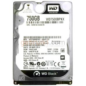 750 GB  laptophardeschijf  2.5  inch WD
