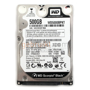 500GB 2.5 inch sata harde schijf WD Scorpio Black