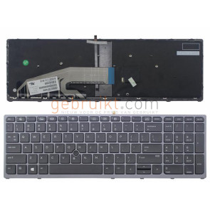 Notebook keyboard for HP EliteBook 850 G3 850 G4 ZBook 15u G3 G4 with pointer frame big 'Enter'